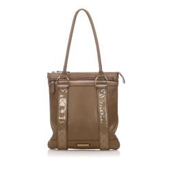 Burberry Calf Leather Tote Bag