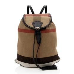 Burberry Canvas Check Chiltern Medium Backpack