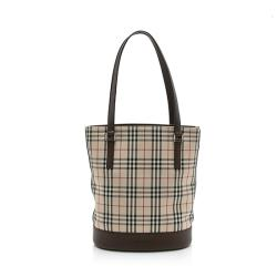 Burberry Nova Check Small Bucket Bag