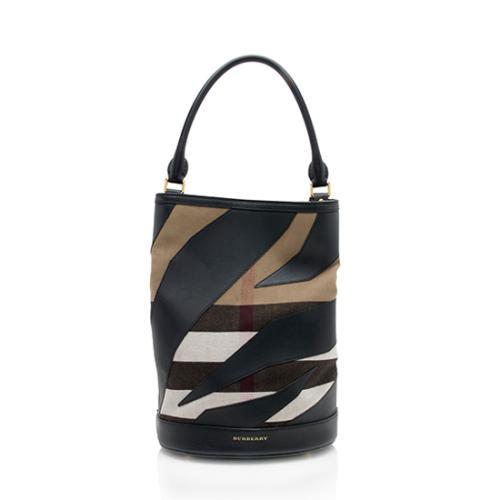 Burberry Canvas Leather Bucket Bag