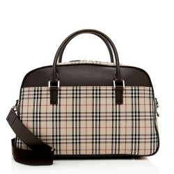 Burberry Check Duffel Bag