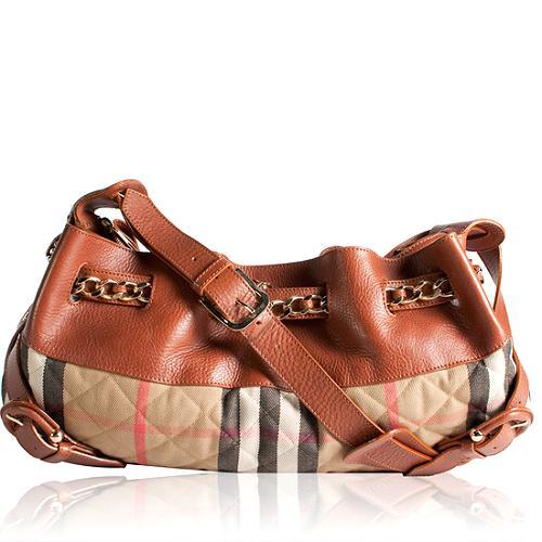 Burberry Check Shoulder Handbag