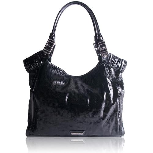Burberry Covington Patent Leather Large Tote