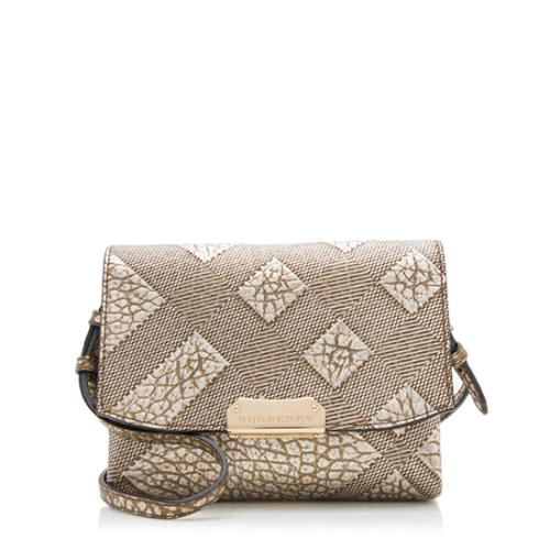 Burberry Embossed Check Crossbody Bag