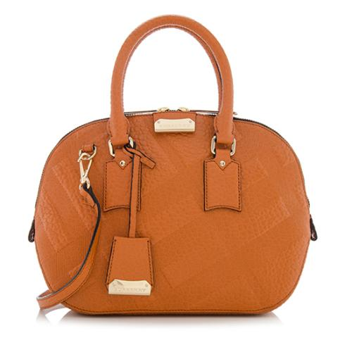 2a7143592feb Burberry-Embossed-Check-Leather-Orchard-Small-Satchel - 73736 front large 1.jpg