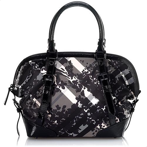 Burberry Floral Check Shoulder Handbag