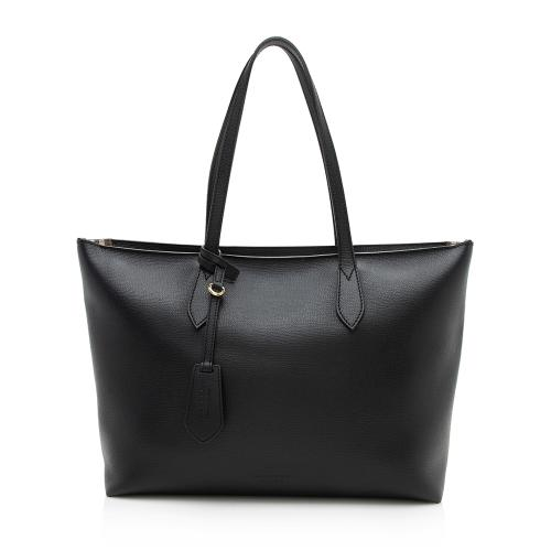 Burberry Grained Leather Ardwell Zip Medium Tote