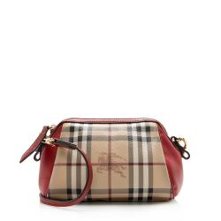Burberry Haymarket Check Blazi Mini Crossbody Bag