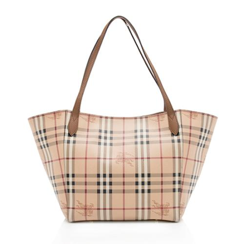 abae751ea62a Burberry-Haymarket-Check-Canter-Small-Tote 99086 front large 0.jpg