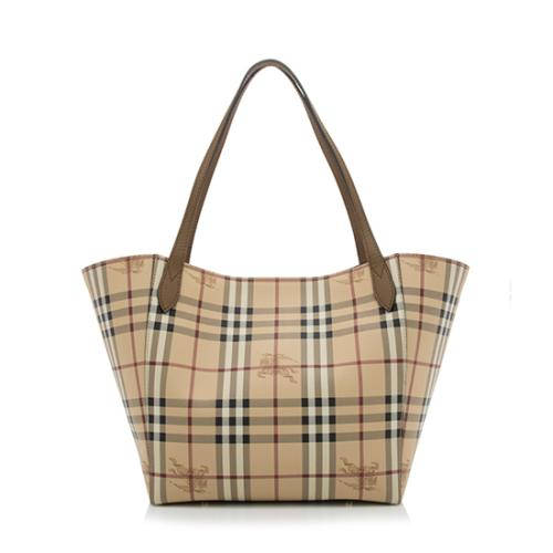 Burberry Haymarket Check Canter Small Tote