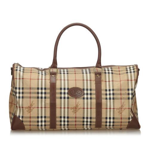Burberry Haymarket Check Canvas Travel Bag