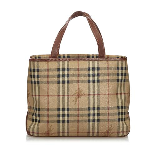 Burberry Haymarket Check Coated Canvas Tote