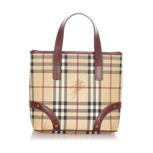 Burberry Haymarket Check Handbag