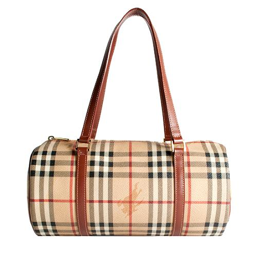 Burberry Haymarket Check Lola Shoulder Handbag