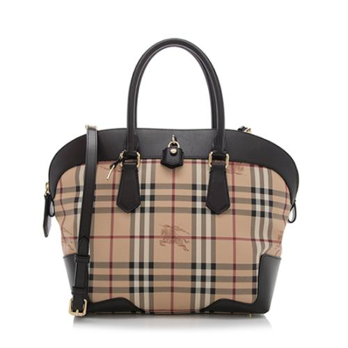 Burberry Haymarket Check Primrose Medium Tote