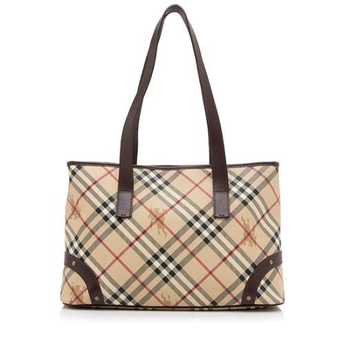 d06e1baf8078 Burberry Haymarket Check Medium Tote