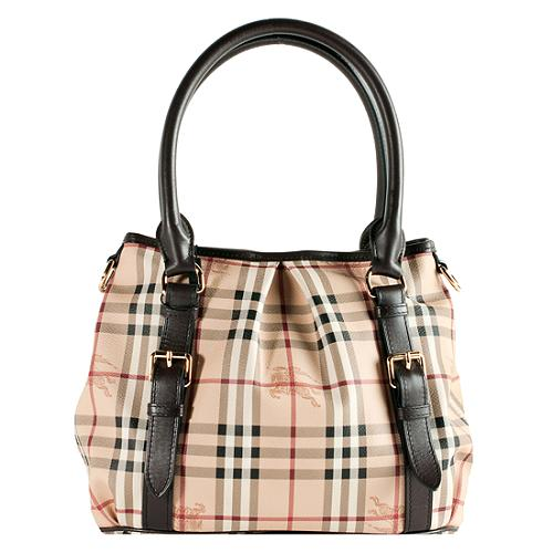 fe294d36630a Burberry-Haymarket-Check-Northfield-Small-Tote 48858 front large 1.jpg