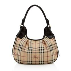 Burberry Haymarket Check Shoulder Bag