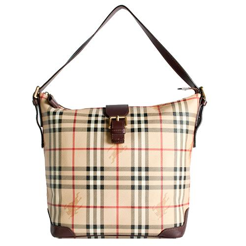 Burberry Haymarket Check Shoulder Handbag