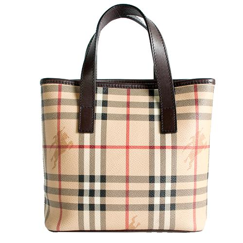 Burberry Haymarket Check Small Oxford Tote
