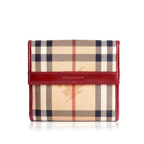 Burberry Haymarket Check Wallet