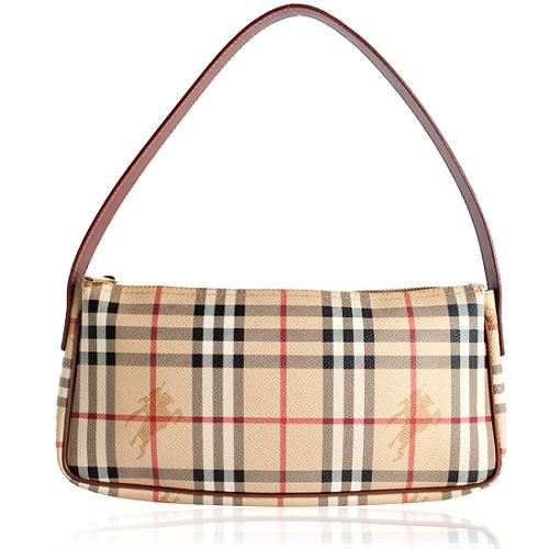 Burberry Haymarket Small Shoulder Handbag