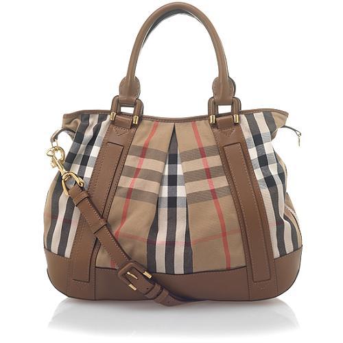 Burberry Heather House Check Handbag
