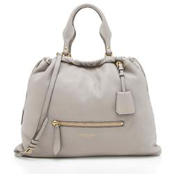 Burberry Heritage Grain Leather Big Crush Tote