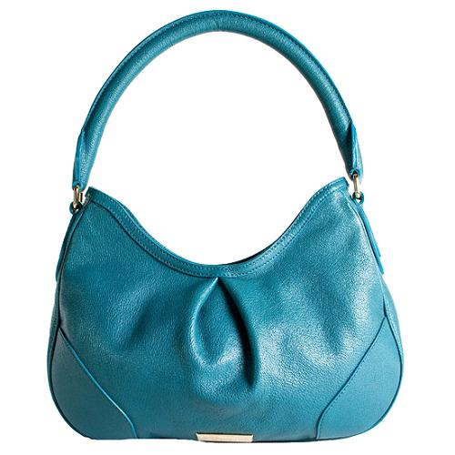 Burberry Hernville Leather Hobo Handbag