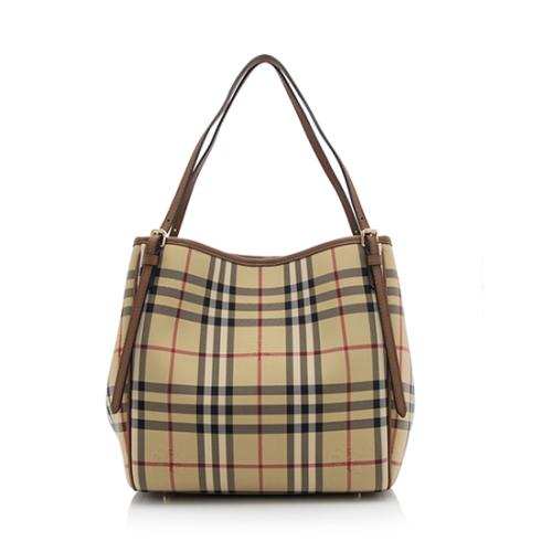 21424414de5e Burberry Horseferry Check Canterbury Small Tote