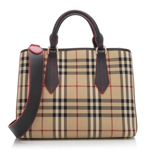 Burberry Horseferry Check Contrast Stitch Ballingdon Medium Tote