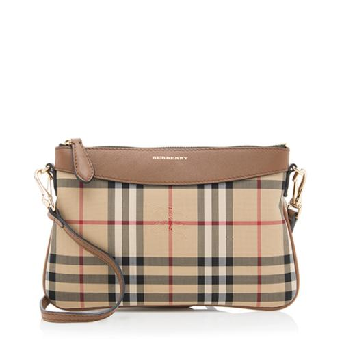 Burberry Horseferry Check Peyton Clutch