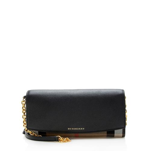Burberry Horseferry Check Henley Wallet On Chain Bag