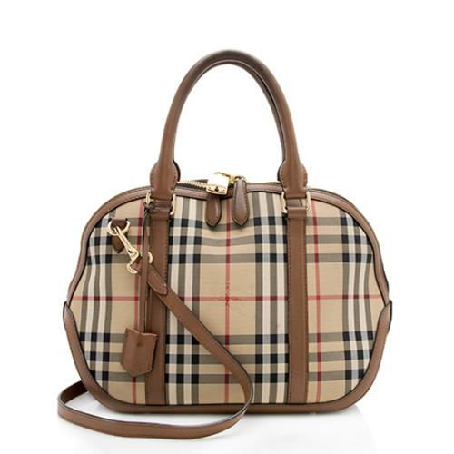 Burberry Horseferry Check Orchard Small Satchel