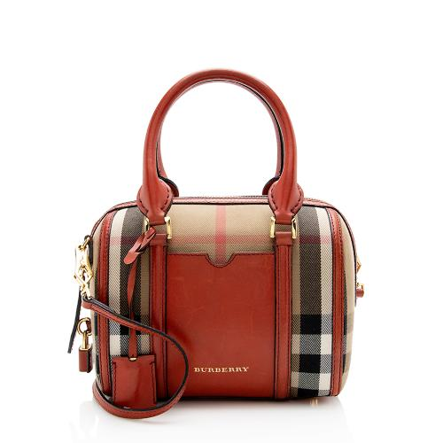 Burberry House Check Alchester Convertible Small Satchel