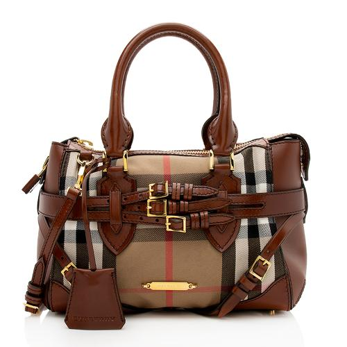 Burberry House Check Bridle Gladstone Satchel