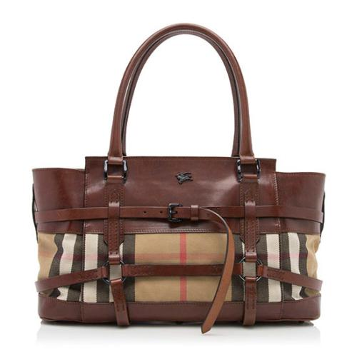 Burberry House Check Bridle Satchel