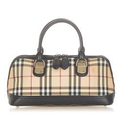Burberry House Check Canvas Handbag
