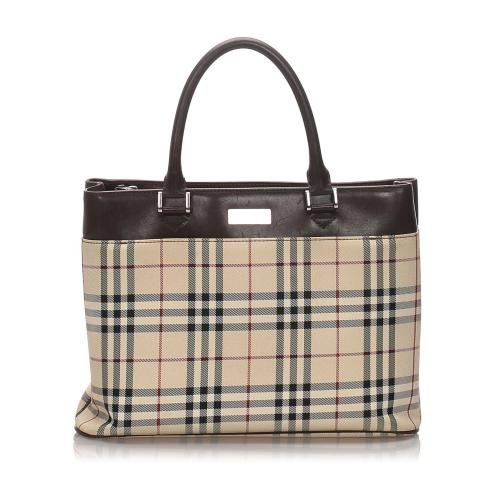 Burberry House Check Canvas Tote