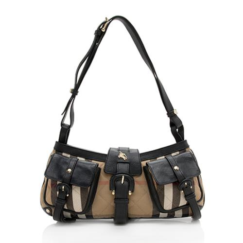 Burberry House Check Cinda Pocket Shoulder Bag