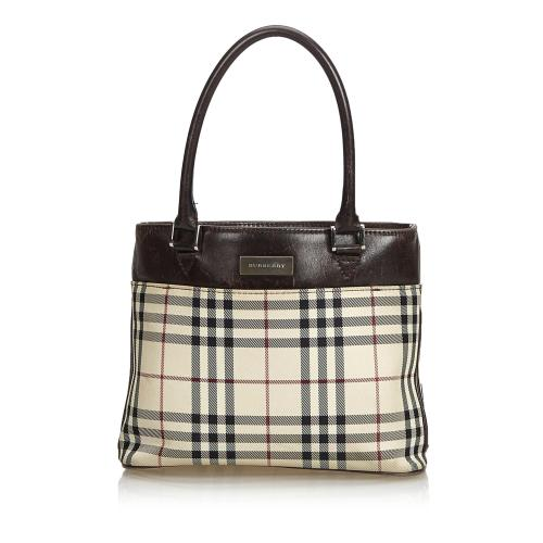 Burberry House Check Coated Canvas Tote