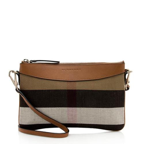 Burberry House Check Derby Peyton Clutch