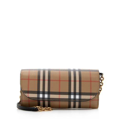Burberry House Check Henley Chain Wallet