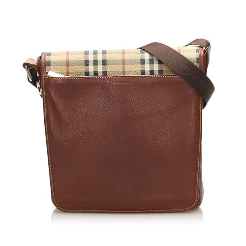 Burberry House Check Leather Crossbody Bag