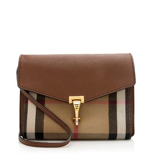 Burberry House Check Macken Small Crossbody Bag