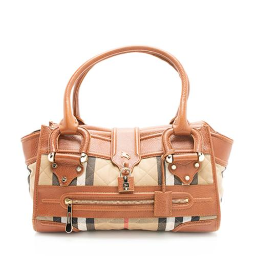 Burberry House Check Manor Satchel