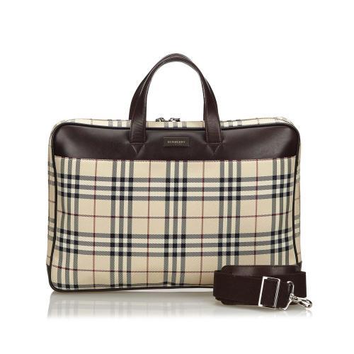 Burberry House Check Nylon Briefcase