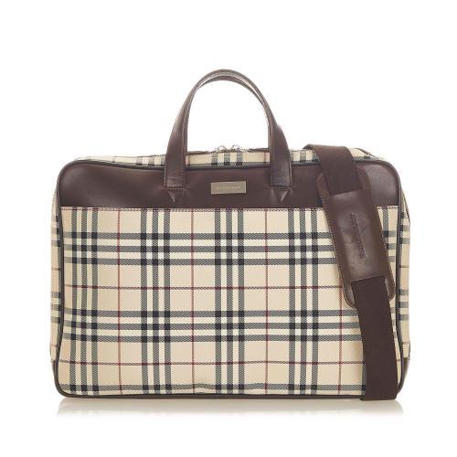 Burberry House Check Nylon Business Bag