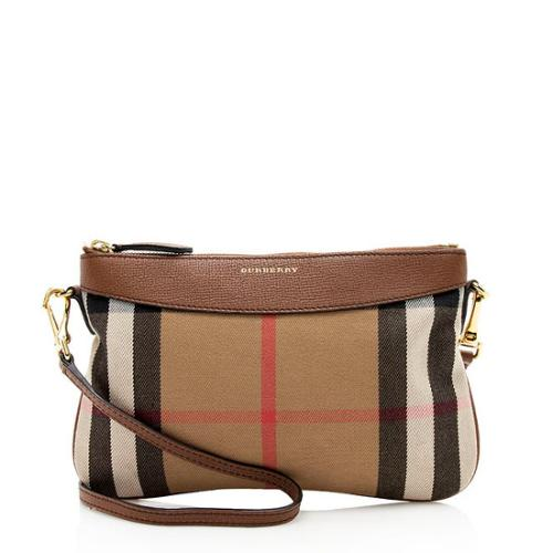 Burberry House Check Peyton Clutch