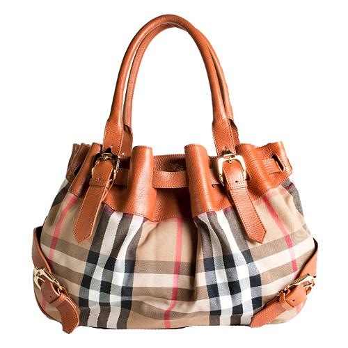 Burberry House Check Satchel Handbag
